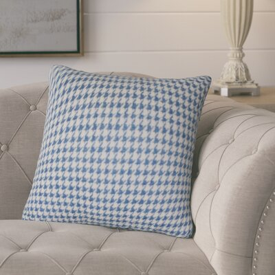 Calafia Throw Pillow Color: Blue/Cream