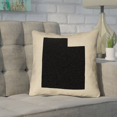 Sherilyn Utah Throw Pillow Size: 16 x 16, Color: Black