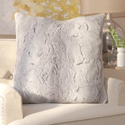 Atkins Faux Fur Euro Pillow Color: Grey