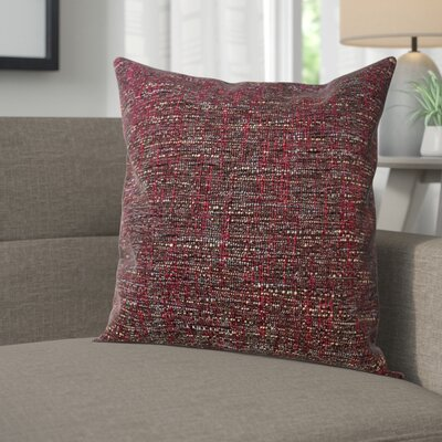 Windham Decorative Cross Stitch Square Throw Pillow Color: Burgundy