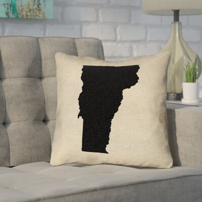 Sherilyn Vermont Outdoor Throw Pillow Size: 18 x 18, Color: Black