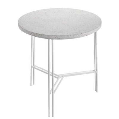 Timmins Terrazzo End Table Table Base Color: White, Table Top Color: Beige