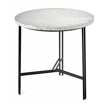 Timmins Terrazzo End Table Table Base Color: Black, Table Top Color: Gray
