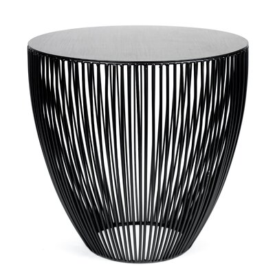 Bingo End Table Color: Black