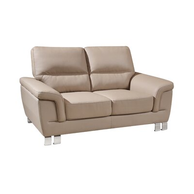 Hawker Upholstered Living Room Loveseat Upholstery: Beige