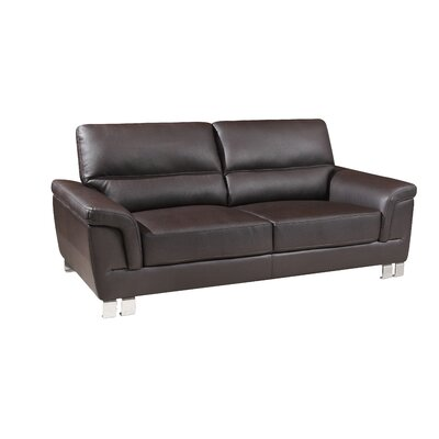 Hawker Luxury Upholstered Living Room Loveseat Upholstery: Brown