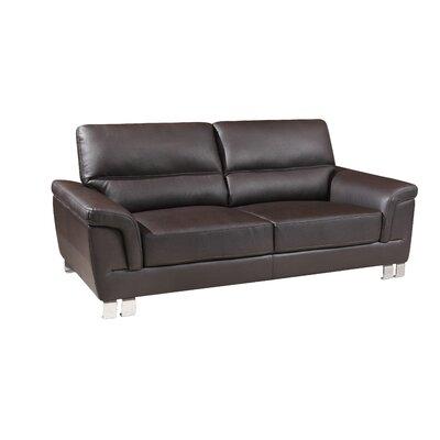 Hawker Luxury Upholstered Living Room Loveseat Upholstery: Brown
