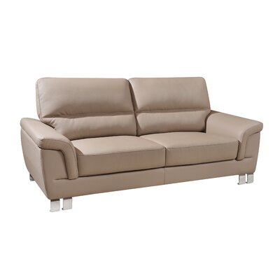 Hawker Luxury Upholstered Living Room Loveseat Upholstery: Beige