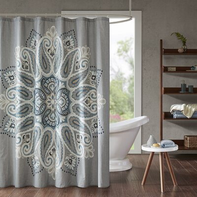 Papadopoulos Printed 100% Cotton Shower Curtain
