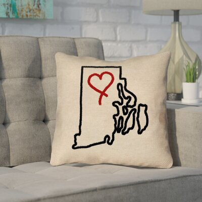 Sherilyn Rhode Island Love Outdoor Throw Pillow Size: 16 x 16