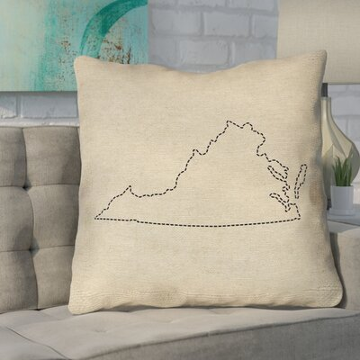 Sherilyn Virginia Size: 18 x 18, Type: Throw Pillow