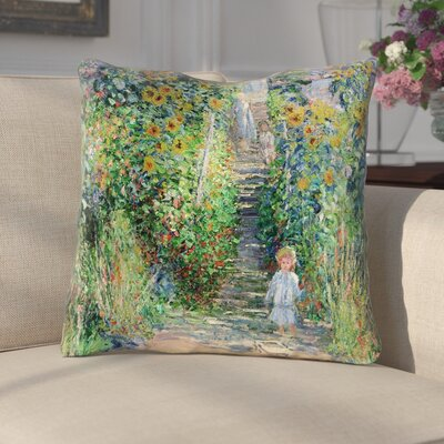 Ghislain Flower Garden Linen Throw Pillow Size: 14 x 14