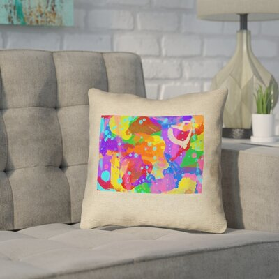 Sherilyn Wyoming Love Watercolor Size: 20 x 20, Type: Throw Pillow