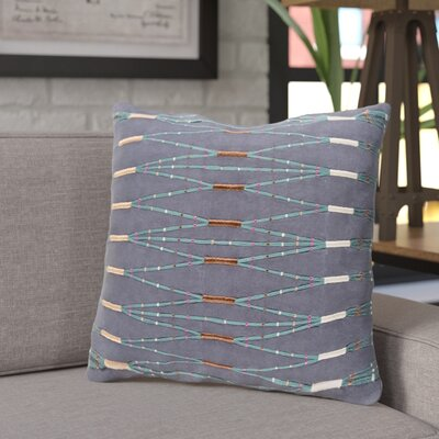 Adelhard Cotton Throw Pillow Color: Blue/Green