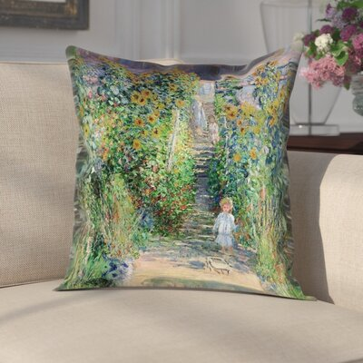 Gerlach Flower Garden Cotton Pillow Cover Size: 14 x 14