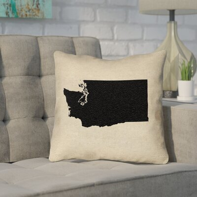 Sherilyn Washington Throw Pillow Size: 20 x 20, Color: Black