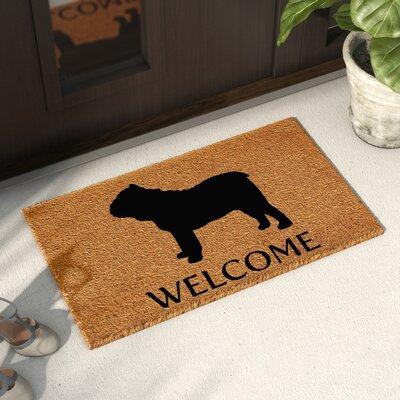 Reichman Bull Dog Doormat Mat Size: 14 x 24