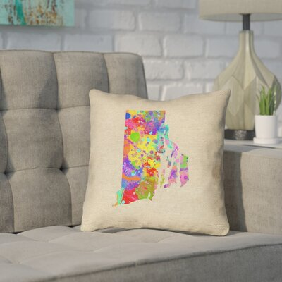 Sherilyn Rhode Island Throw Pillow Size: 14 x 14, Material: Spun Polyester, Color: Green/Blue
