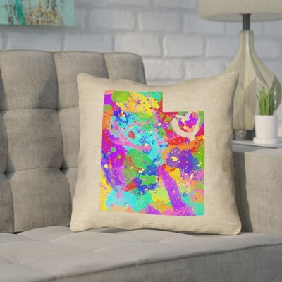 Sherilyn Utah Love Outdoor Throw Pillow Size: 18 x 18