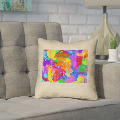 Sherilyn Wyoming Throw Pillow Color: Blue/Green, Size: 18 x 18, Type: Throw Pillow