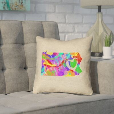 Sherilyn Pennsylvania Love Watercolor Pillow Cover