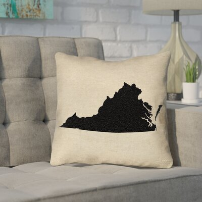 Sherilyn Virginia Outdoor Throw Pillow Size: 16 x 16, Color: Black