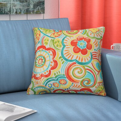Port Saint Lucie Throw Pillow Color: Carnival
