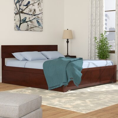 Cristina Storage Platform Bed Color: Antique Walnut