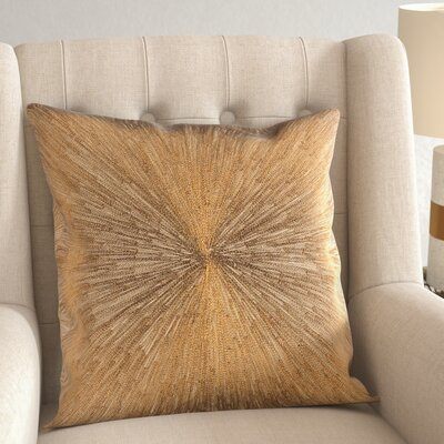 Wesley 100% Cotton Pillow Cover Color: Khaki