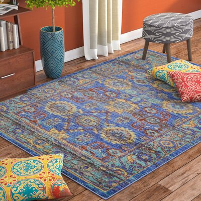 Devan Blue Indoor Area Rug Rug Size: Rectangle 53 x 73
