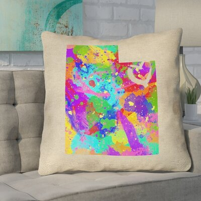 Sherilyn Utah Love Double Sided Print Size: 18 x 18, Type: Pillow Cover, Material: 100% Cotton
