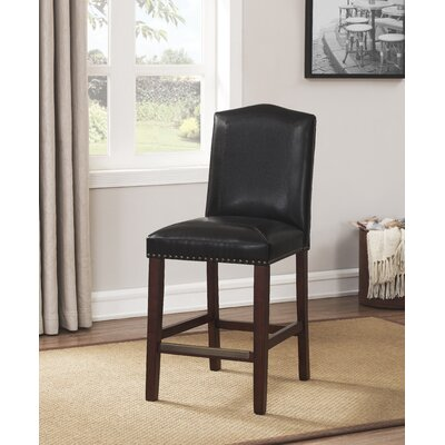 Purser Leather 24 Bar Stool Upholstery: Brown