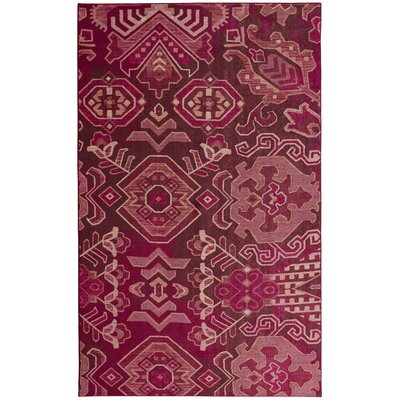 Claunch Pink Area Rug Rug Size: Rectangle 5 x 8