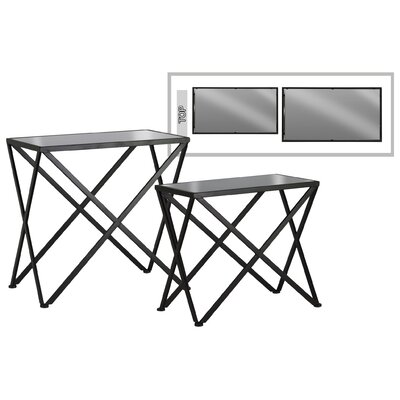 Iolanthe Crossed Hairpin Leg 2 Piece Nesting Tables