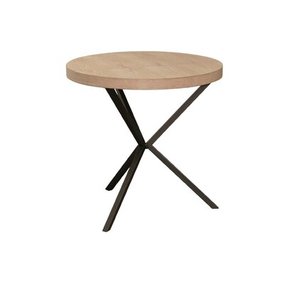 Isakson Crossed Leg Round End Table