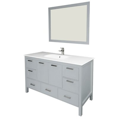 Andre 60 Single Bathroom Vanity Set with Mirror