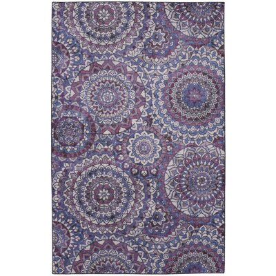 Claude Medallion Purple Area Rug Rug Size: Rectangle 8 x 10