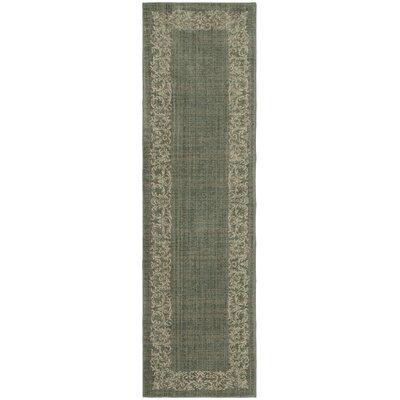 Liola Green Area Rug Rug Size: Runner 21 x 76