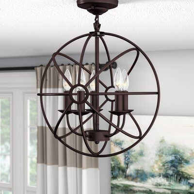 Douglass 5-Light Globe Pendant Finish: Bronze