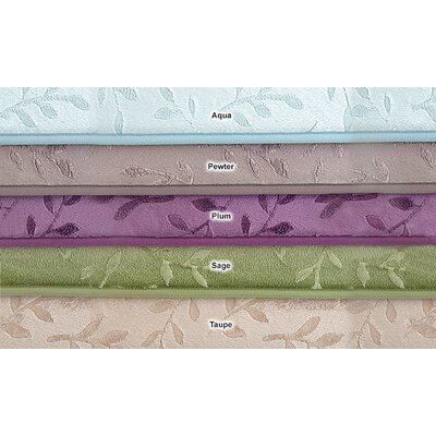 Umstead Memory Foam Leaf Bath Rug Color: Taupe