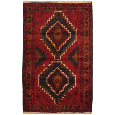 One-of-a-Kind Ebron Hand-Knotted Wool Red/Tan Area Rug
