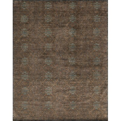 Claussen Hand Knotted Wool Tobacco/Charcoal Area Rug Rug Size: Rectangle 4 x 6