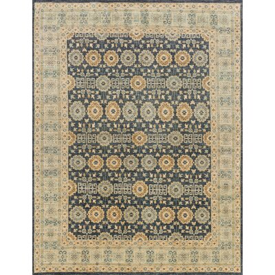 Durden Hand Woven Wool Indigo/Light Blue Area Rug Rug Size: Rectangle 56 x 86