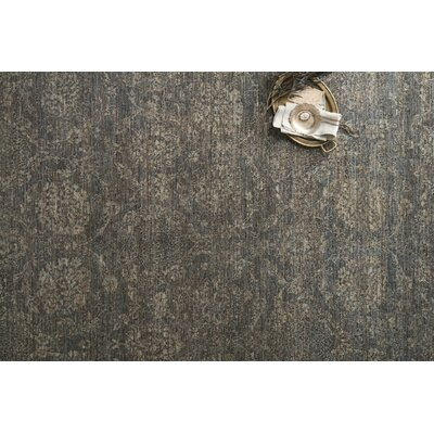 Claussen Hand Woven Wool Gray Area Rug Rug Size: Square 16