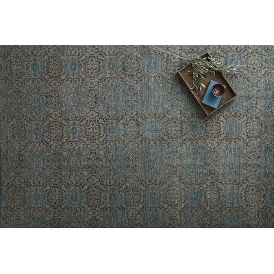 Claussen Hand Woven Wool Brown/Blue Area Rug Rug Size: Rectangle 4 x 6