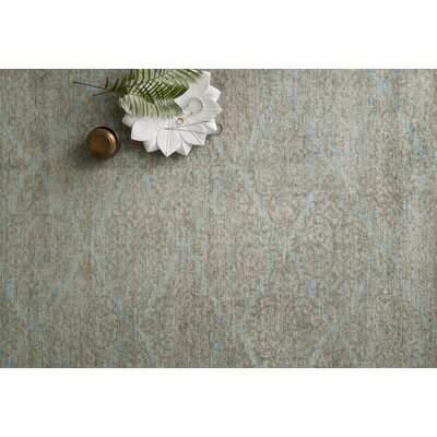 Claussen Hand Woven Wool Aqua/Sand Area Rug Rug Size: Rectangle 96 x 136