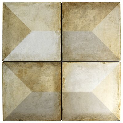 Rene 9.75 x 9.75 Porcelain Field Tile in Tris