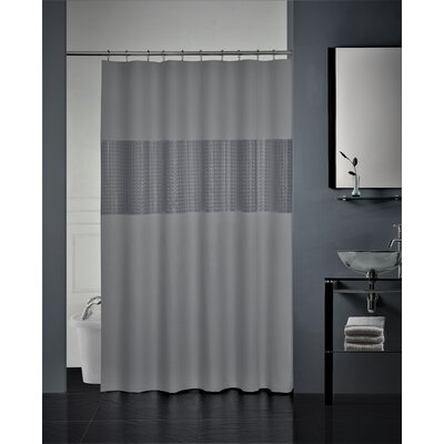Hepworth 3D Striped Shower Curtain Color: Silver/Black