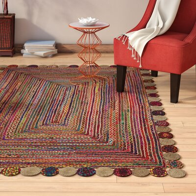 Bowen Hand-Woven Red/Beige Area Rug Rug Size: Rectangle 5 x 8