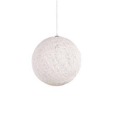 Hewett Round 1-Light LED Globe Pendant Finish: White, Size: 24 H x 24 W x 24 D